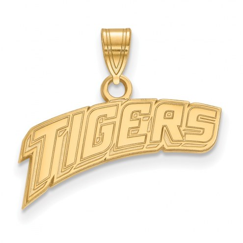 LSU Tigers Sterling Silver Gold Plated Small Pendant