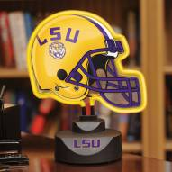 LSU Tigers Neon Helmet Desk Lamp