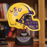 LSU Tigers Neon Helmet Desk Lamp