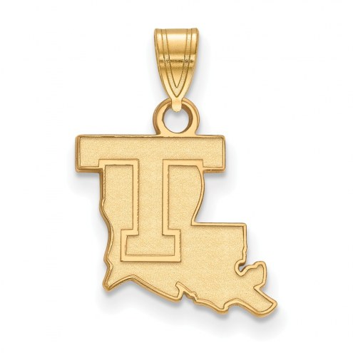 LSU Tigers NCAA Sterling Silver Gold Plated Small Pendant