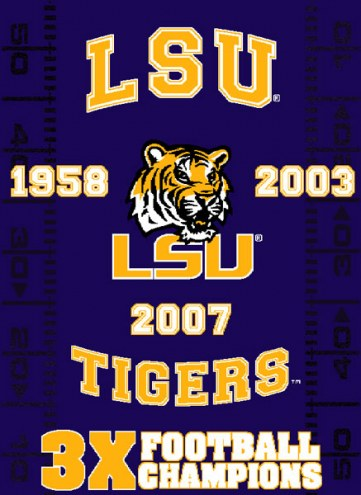 LSU Tigers NCAA Woven Tapestry Throw Blanket