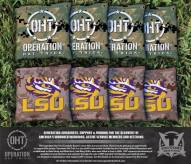 LSU Tigers Operation Hat Trick Cornhole Bag Set