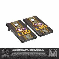 LSU Tigers Operation Hat Trick Stained Cornhole Game Set