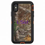 LSU Tigers OtterBox iPhone X Defender Realtree Camo Case