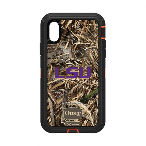 LSU Tigers OtterBox iPhone XR Defender Realtree Camo Case