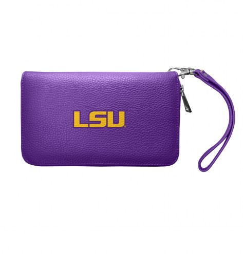 LSU Tigers Pebble Organizer Wallet