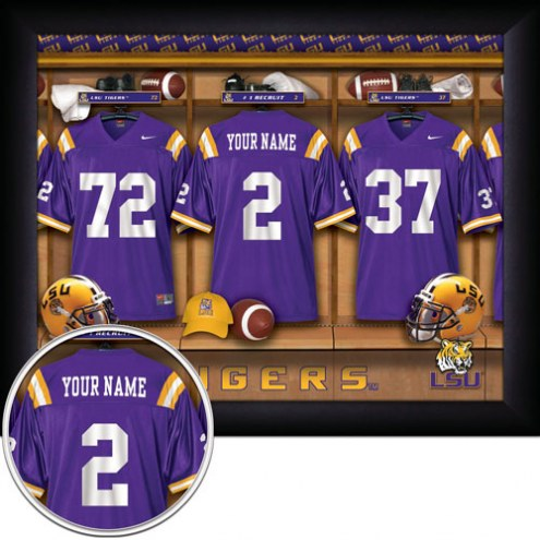 LSU Tigers Personalized 11 x 14 Framed Photograph