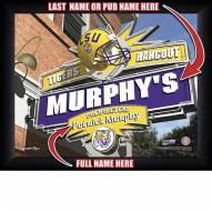 LSU Tigers 11 x 14 Personalized Framed Sports Pub Print