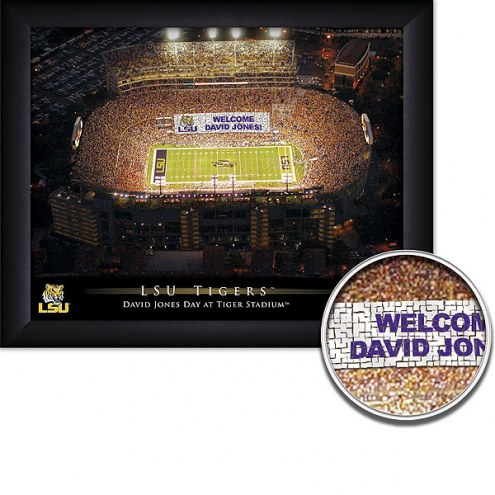 LSU Tigers 11 x 14 Personalized Framed Stadium Print