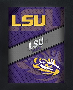 LSU Tigers Framed 3D Wall Art