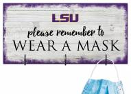 LSU Tigers Please Wear Your Mask Sign