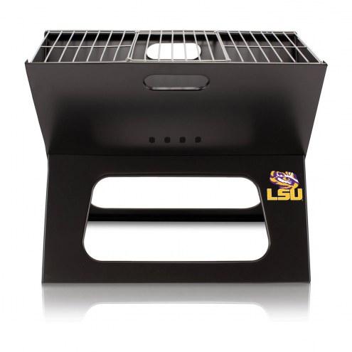 LSU Tigers Portable Charcoal X-Grill