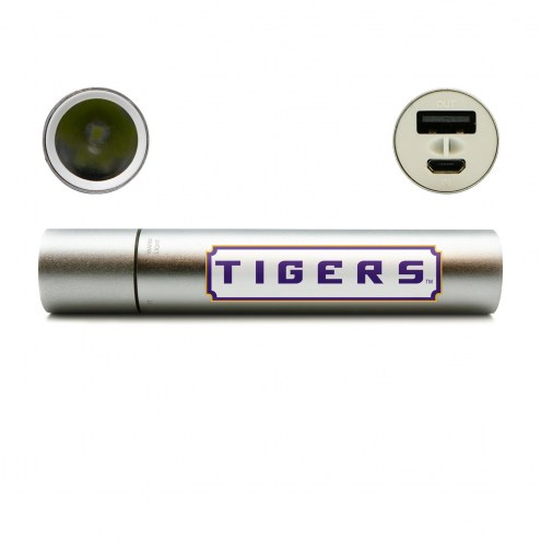 LSU Tigers Portable Power Charger with Flashlight