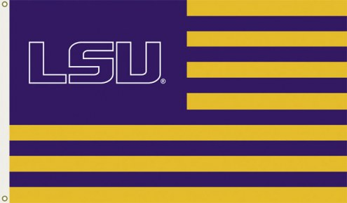 LSU Tigers Premium Striped 3' x 5' Flag