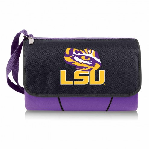 LSU Tigers Purple Blanket Tote