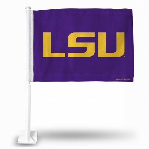 LSU Tigers Purple Car Flag
