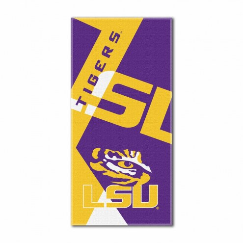 LSU Tigers Puzzle Beach Towel