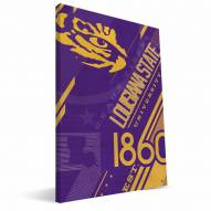 LSU Tigers Retro Canvas Print
