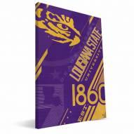 LSU Tigers Retro Canvas Print