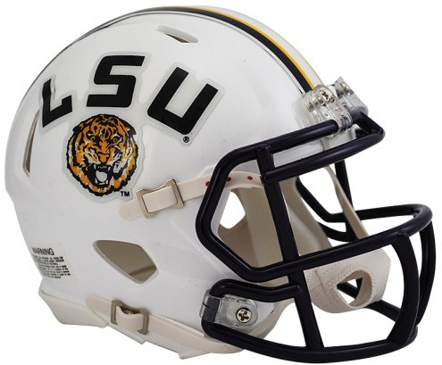 LSU Tigers Riddell Speed Mini Collectible White Football Helmet