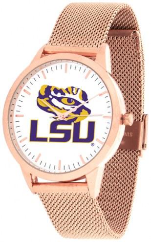 LSU Tigers Rose Mesh Statement Watch