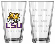 LSU Tigers Satin Etch Pint Glass - Set of 2