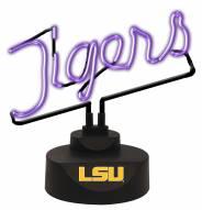 LSU Tigers Script Neon Desk Lamp