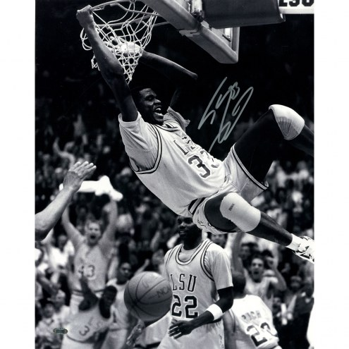 """LSU Tigers Shaquille O'Neal Two Handed Dunk Signed 16"""" x 20"""" Photo"""