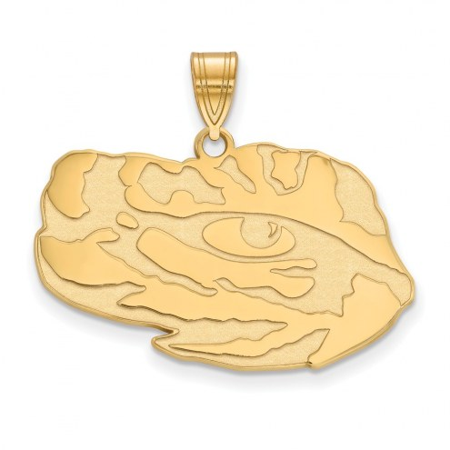 LSU Tigers Sterling Silver Gold Plated Large Pendant