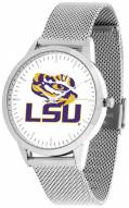 LSU Tigers Silver Mesh Statement Watch