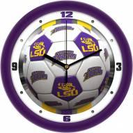 LSU Tigers Soccer Wall Clock