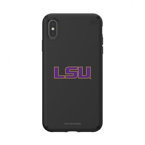 LSU Tigers Speck iPhone XS Max Presidio Pro Black Case