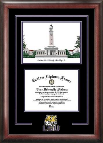 LSU Tigers Spirit Diploma Frame with Campus Image