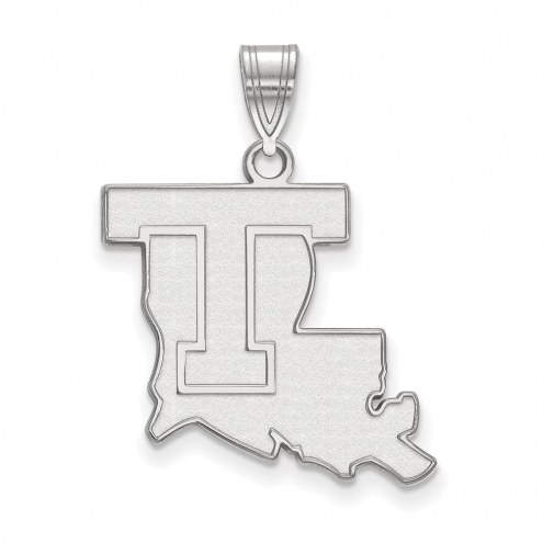 LSU Tigers Sterling Silver Large Pendant