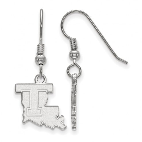 LSU Tigers Sterling Silver Small Dangle Earrings