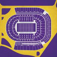 LSU Tigers Stadium Print