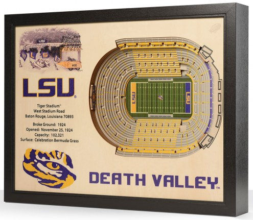 LSU Tigers 25-Layer StadiumViews 3D Wall Art