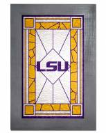 LSU Tigers Stained Glass with Frame