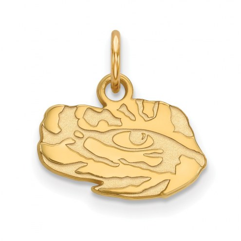 LSU Tigers Sterling Silver Gold Plated Extra Small Pendant