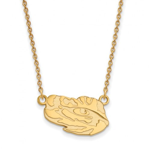 LSU Tigers Sterling Silver Gold Plated Small Pendant Necklace