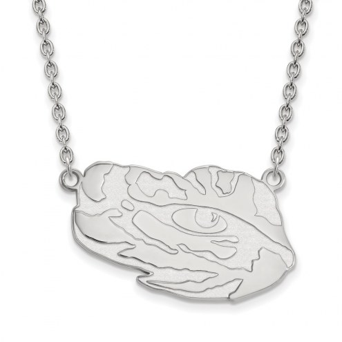 LSU Tigers Sterling Silver Large Pendant Necklace