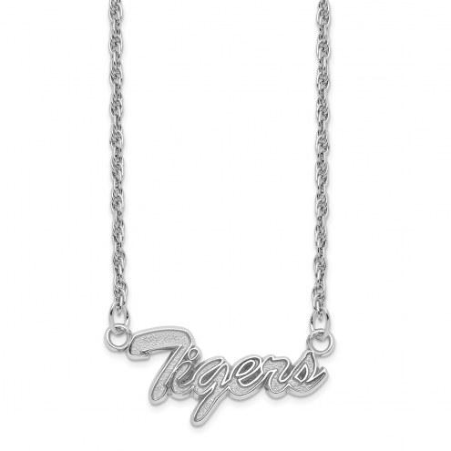 LSU Tigers Sterling Silver Script Necklace