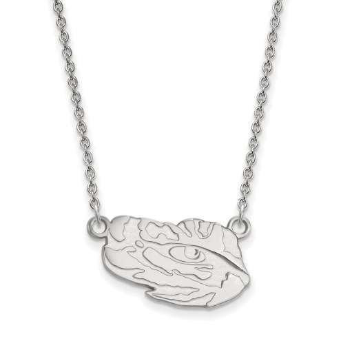 LSU Tigers Sterling Silver Small Pendant Necklace