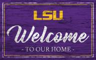 LSU Tigers Team Color Welcome Sign