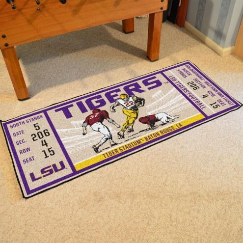 LSU Tigers Ticket Runner Rug