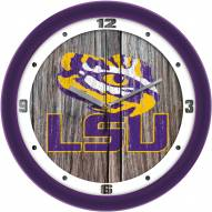 LSU Tigers Weathered Wall Clock