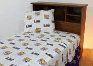 LSU Tigers White Bed Sheets