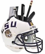 LSU Tigers White Schutt Football Helmet Desk Caddy