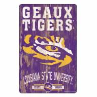 LSU Tigers Slogan Wood Sign