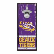 LSU Tigers Wood Bottle Opener